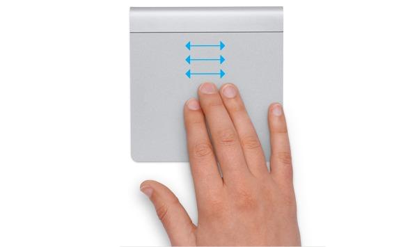 """""""Dra med tre fingre,"""" som Apple kaller det, fungerer bare sporadisk på de nye MacBook Proene."""