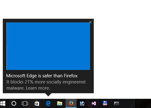 Reddit-brukeren illCodeYouABrain har oppdaget at Windows nå kommer med skryte-popups når du starter andre nettlesere enn Edge.