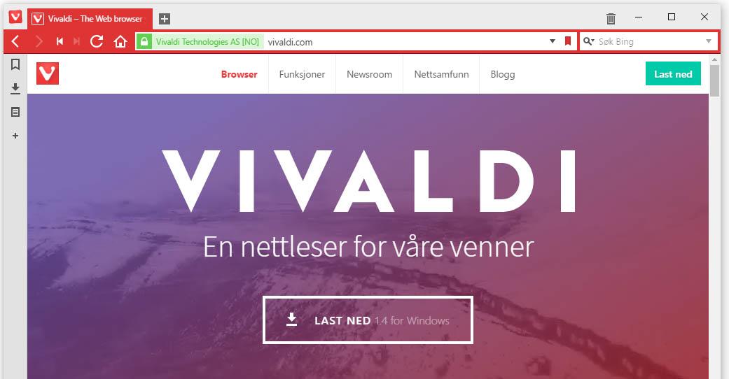 Vivaldi versjon 1.5 er like rundt hjørnet.