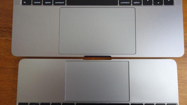 "MacBook Pro 13"" øverst, MacBook 12"" under."
