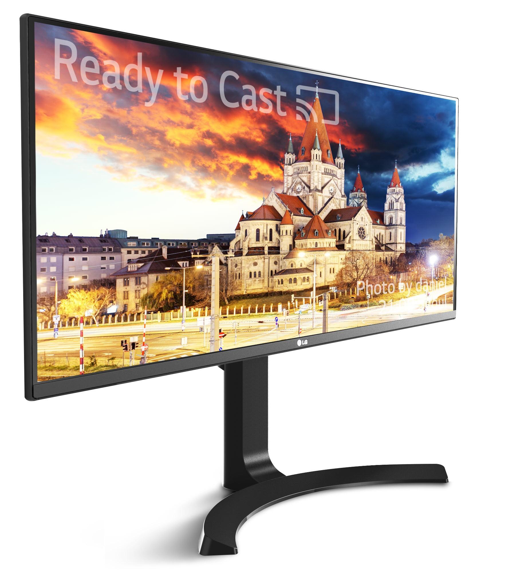 LG 34UM79 har innebygget Chromecast-støtte.