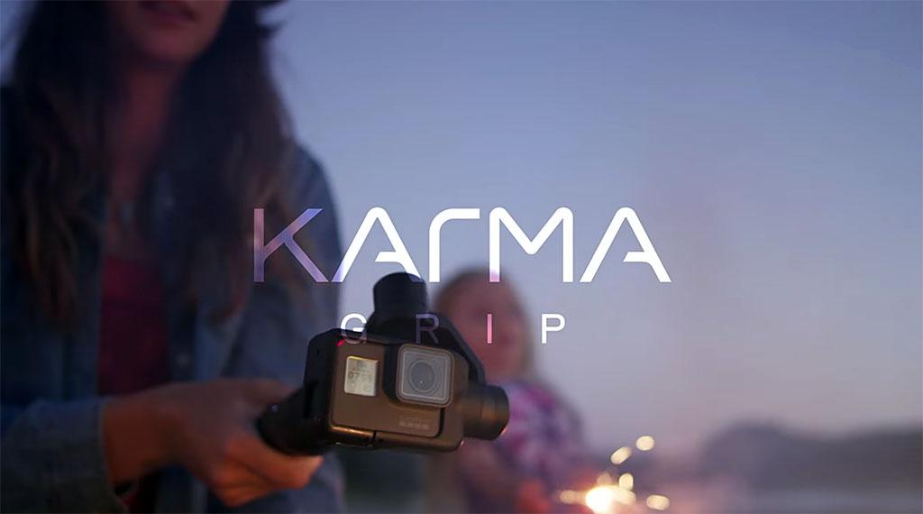 GoPro Grip er Karma-dronens stabiliseringshode plassert på en arm.