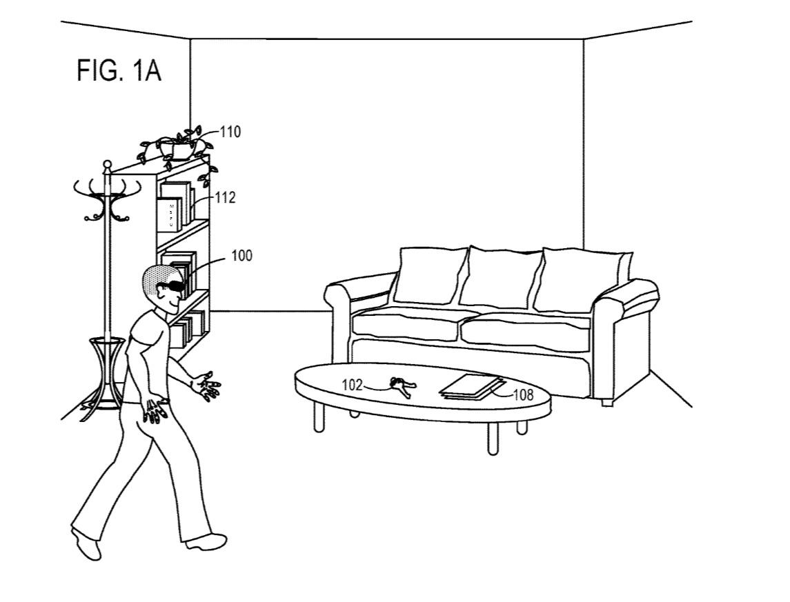 Brukeren får hjelp av AR og objektssporing til å gjenkjenne objekter i rommet.