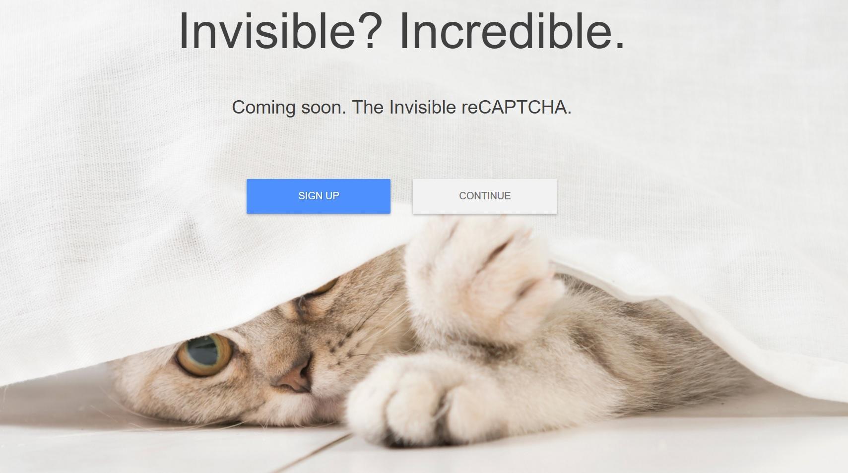 Google har avslørt Invisible ReCaptcha.