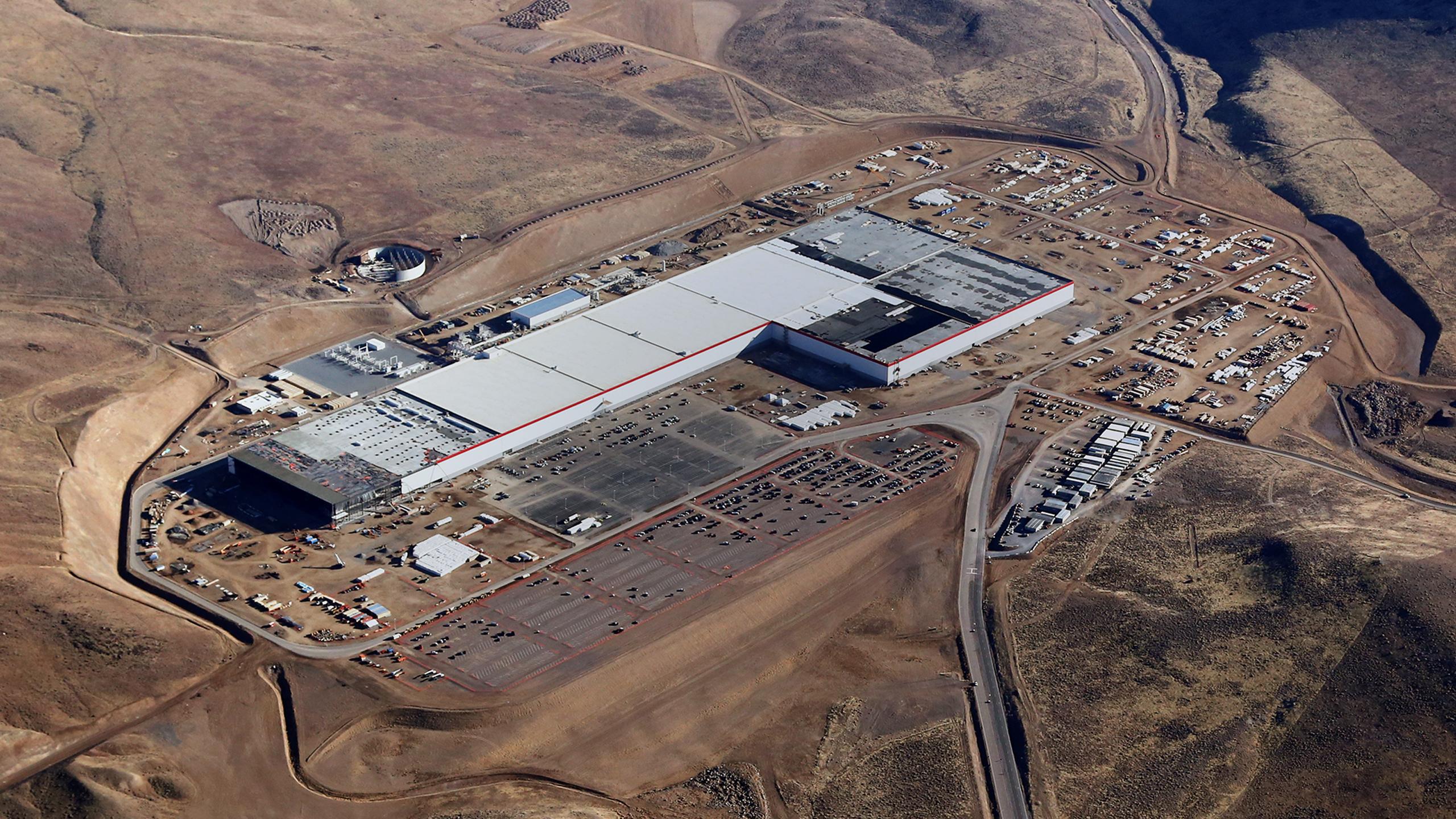 Dette er det ferskeste bildet av Gigafactory i Nevada.