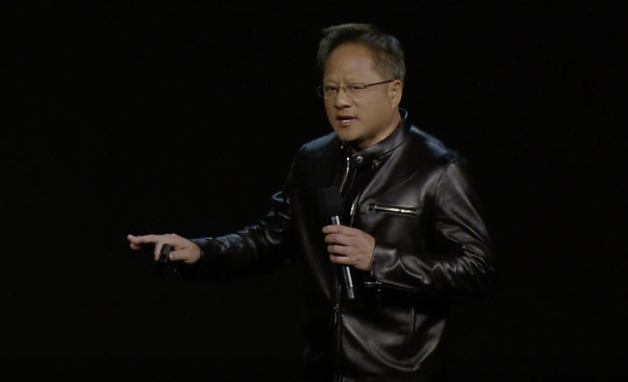 Nvidia-sjef Jen-Hsun er skinnjakkekjekk som vanlig og på scenen som hovedtaler under årets CES.