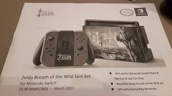 Du kan pynte Nintendo Switch med et Zelda-dekor.