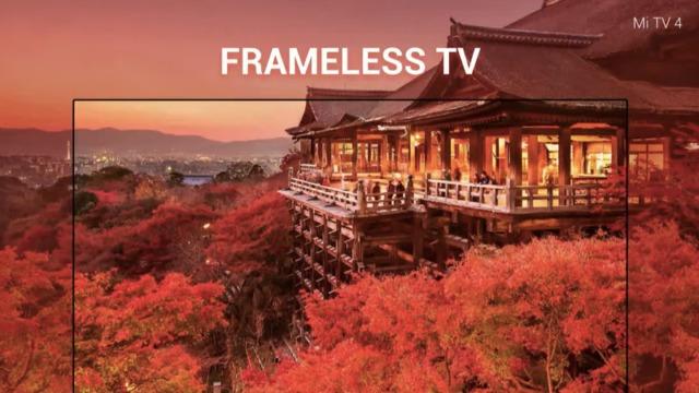 TV-en har et nærmest rammeløst design.