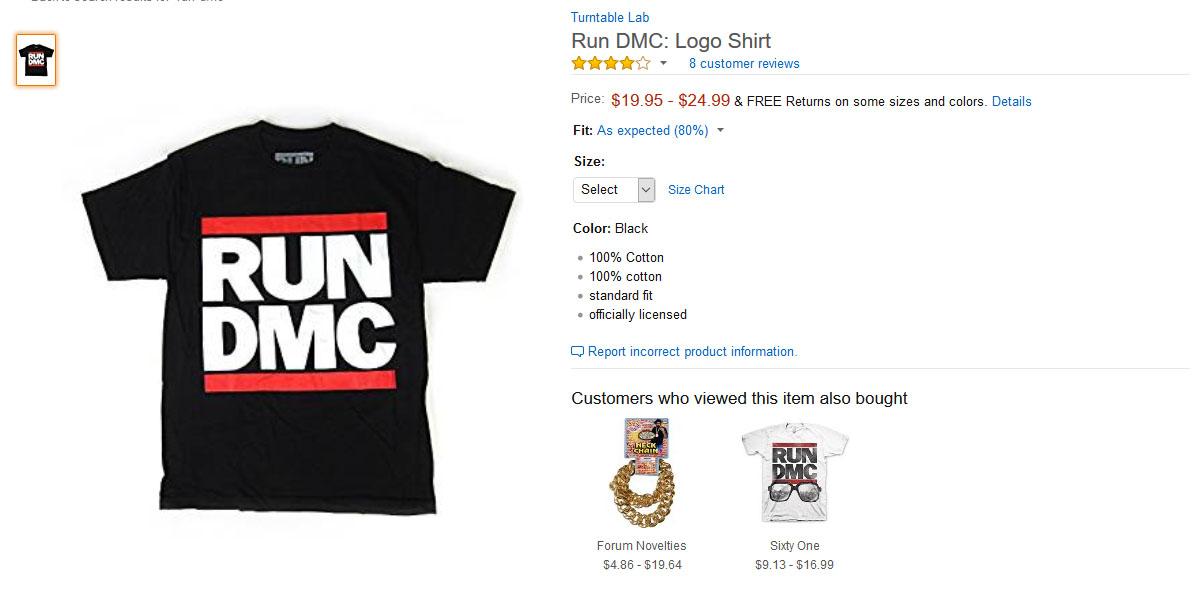 """Run-DMC har tapt """"betydelig omsetning"""" på grunn av falske produkter på blant annet Amazon.com."""