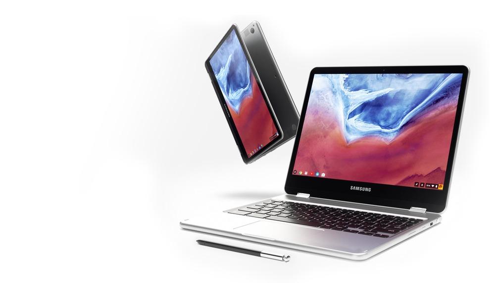 De nye Chromebook-maskinene fra Samsung er selvsagt innpakket i aluminium.