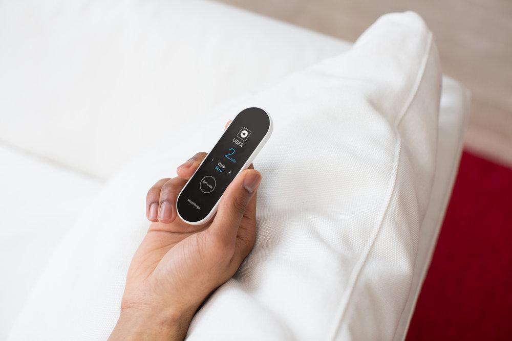 Sevenhugs-fjernkontrollen kontrollerer enhetene du peker den på - og støtter 25 000 forskjellige smarte enheter.