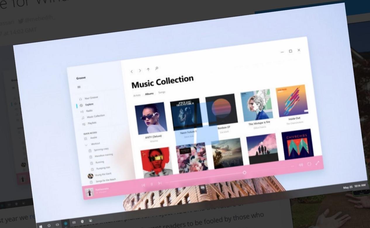 Dette er Groove oppgradert med Project Neon.