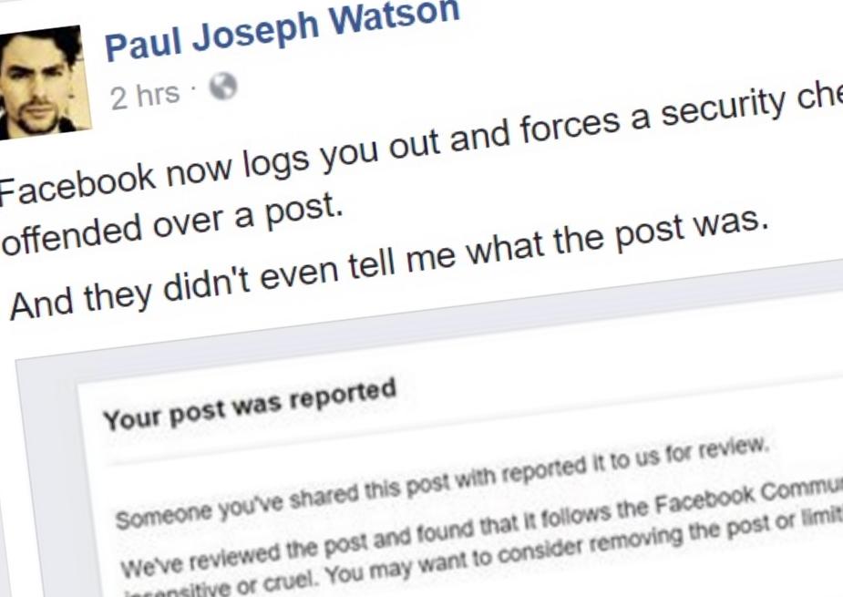 Den konservative kommentatoren Paul Joseph Watson har oppdaget en ny måte Facebook prøver å undertrykke meningene hans.