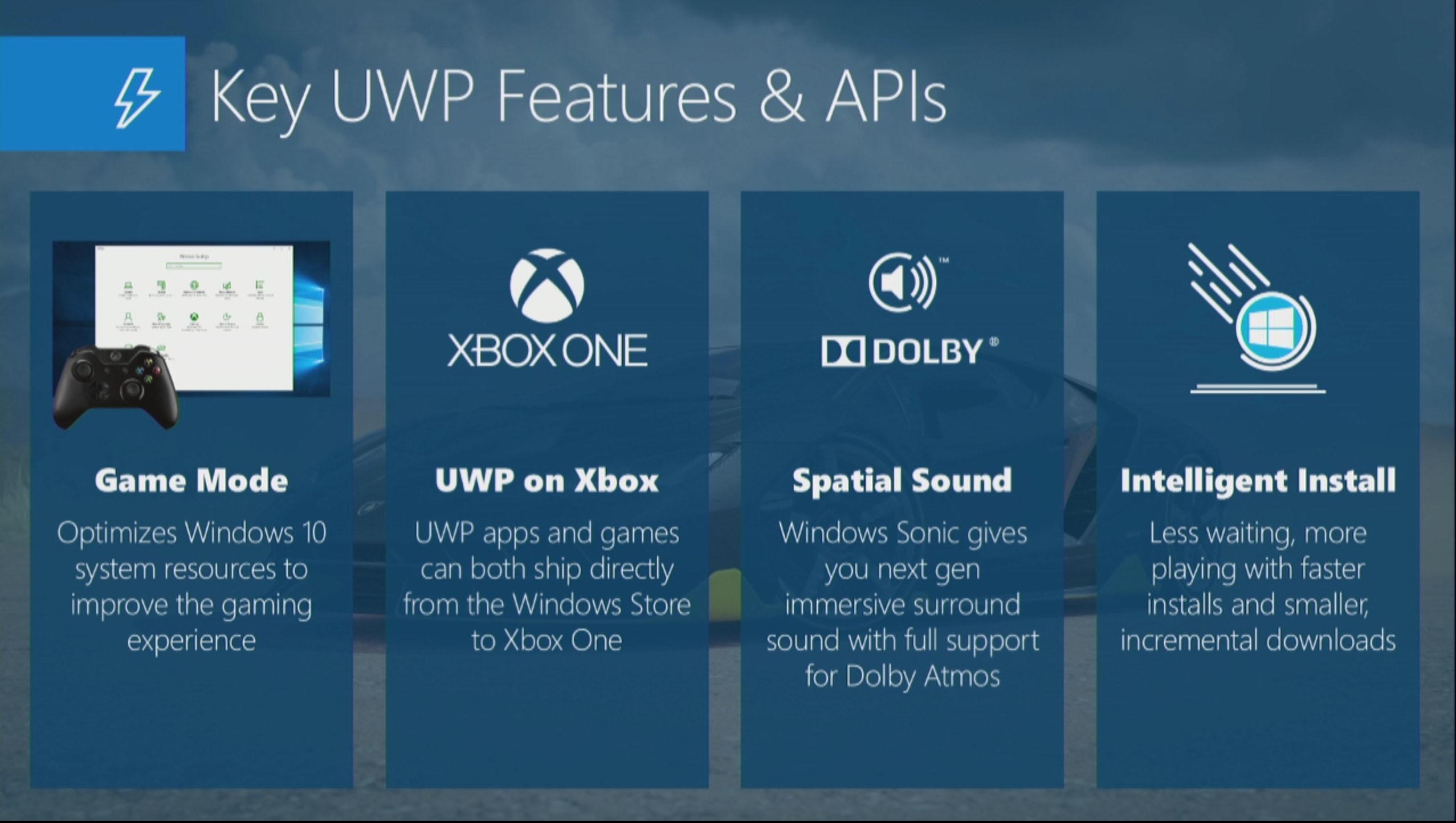 UWP (Univeral Windows Platform) har som formål å gjøre det enkelt for utviklerne å skape spill til Windows og Xbox uten å måtte gjøre alt to ganger.