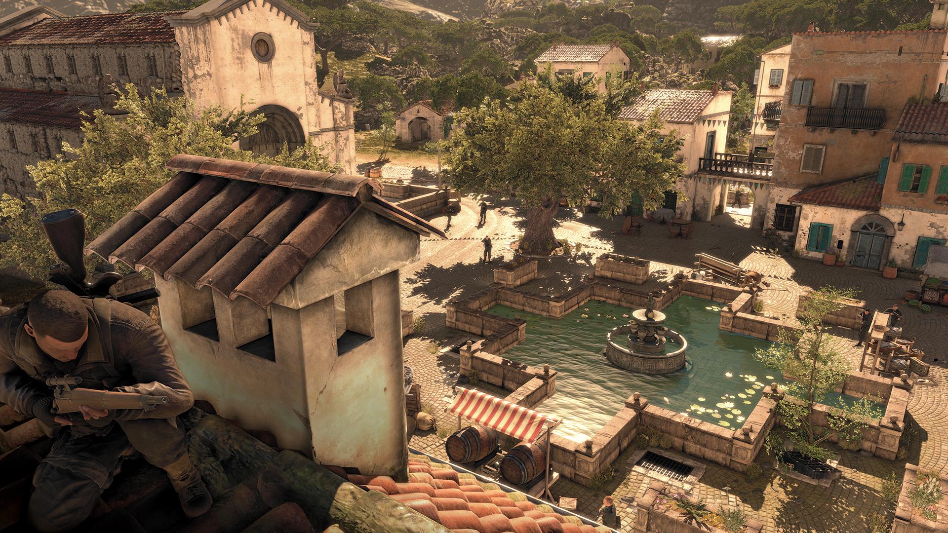 Grafikken gir spilleren lange avstander noe som hjelper å velge plan.