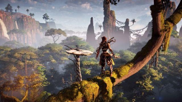 Horizon Zero Dawn er et svært vakkert spill.