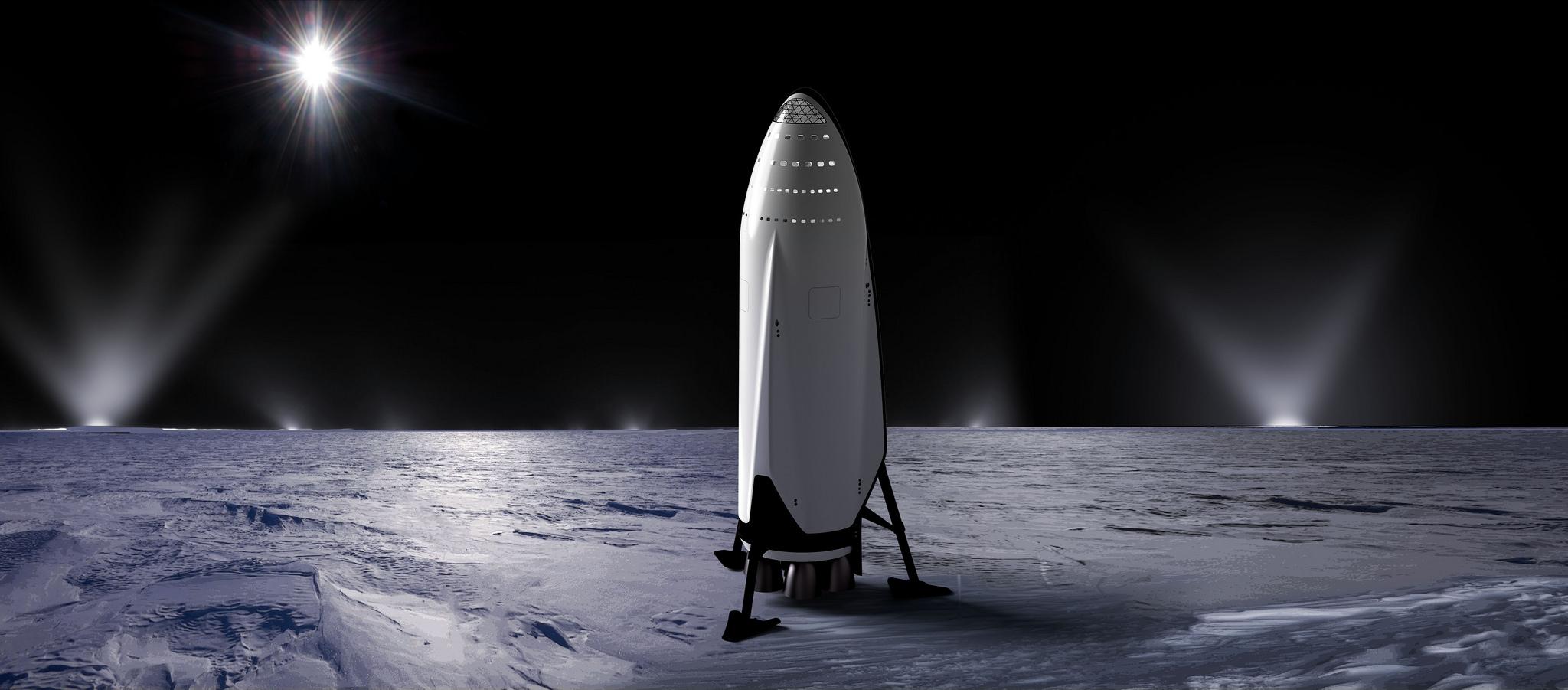 SpaceX skal fly to privatpersoner rundt månen i 2018. Illustrasjonsfoto.