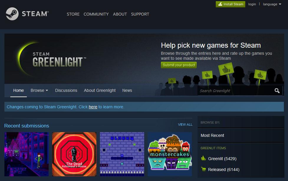 Steam Greenlight skal avviklees i løpet av våren og erstattes av en betalingsordning.