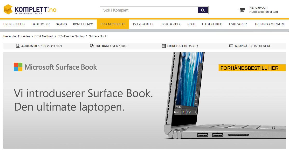 Maskinen Microsoft Norge gledet seg til å lansere har fått salgsdato: Komplett vil selge den fra 3. mars 2017.