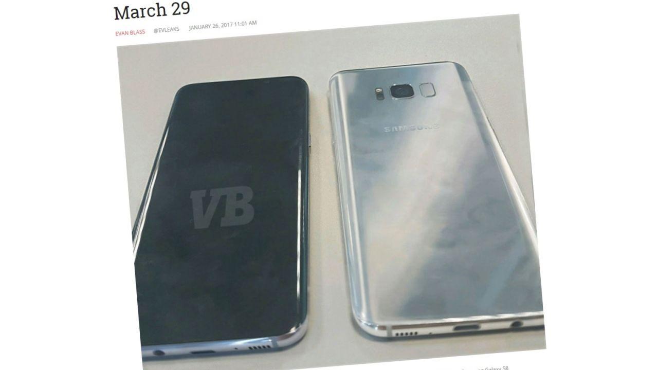 Ifølge en nettbutikk kommer Galaxy S8 i tre forskjellige farger.