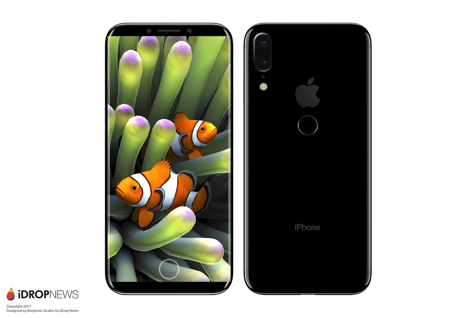 Touch ID på baksiden og endringer i kameraoppsettet. Er dette iPhone Edition?