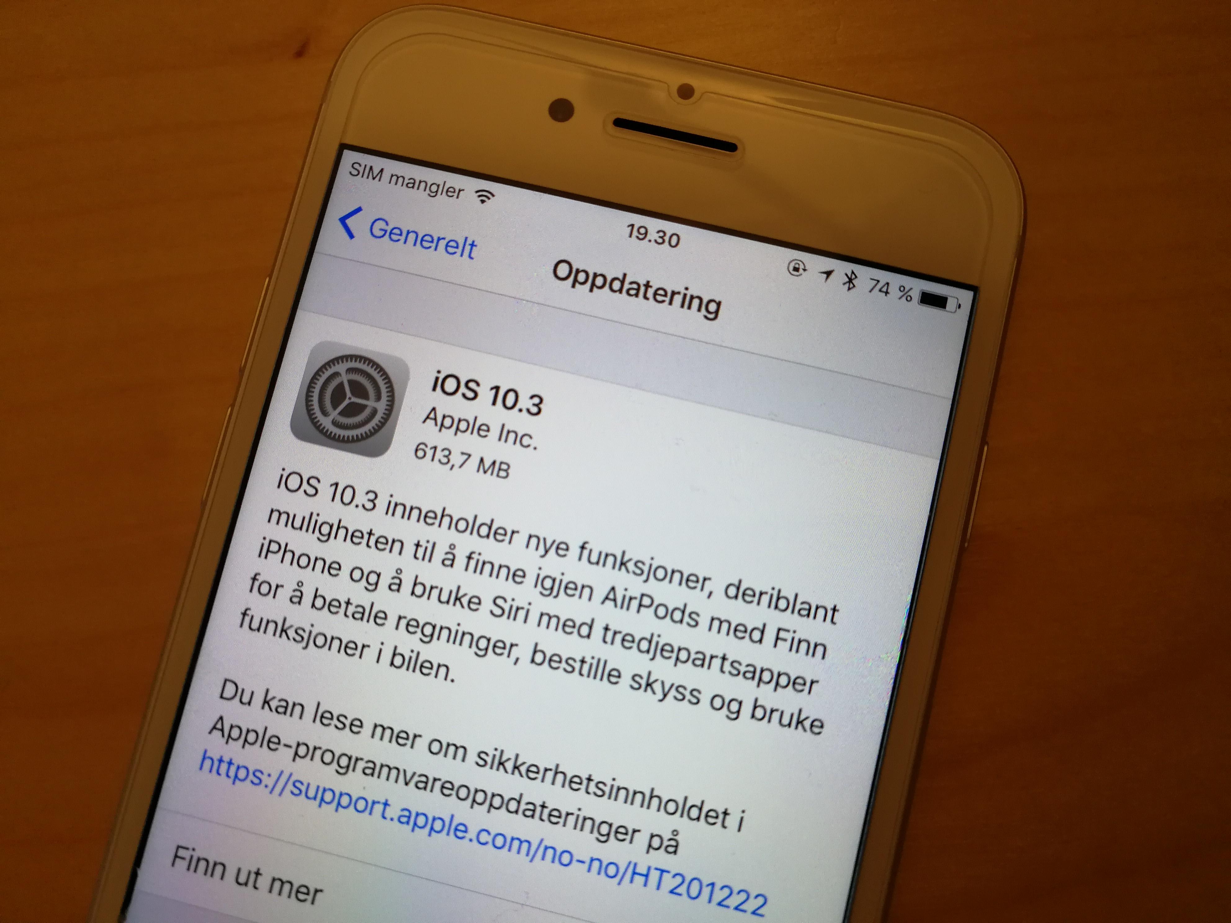 Se hva somer nytt i iOS 10.3.