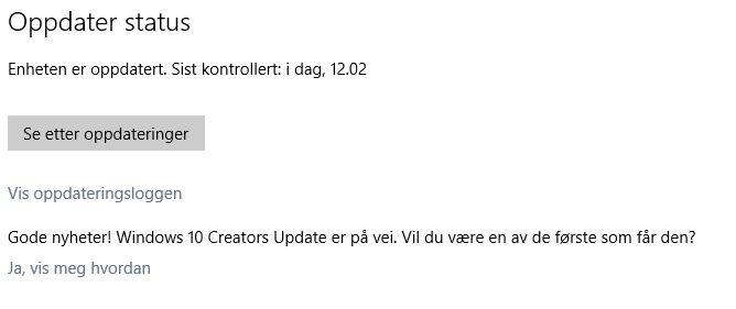 Creators Update er på vei.