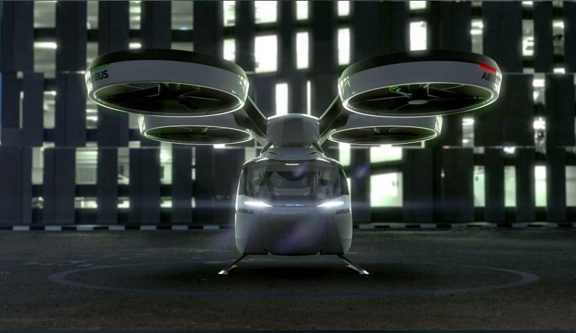 Airbus lettet på sløret til dronedrosjen sin, som skal være å se i byer om syv til ti år.