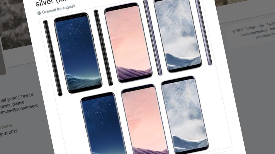 Dette skal være Galaxy S8-fargene.
