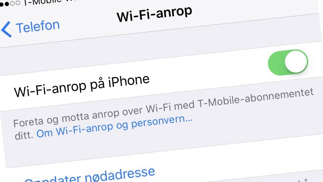 Nå kan du ringe over WiFi. Alt fungerer som før, men du får bedre dekning innendørs.