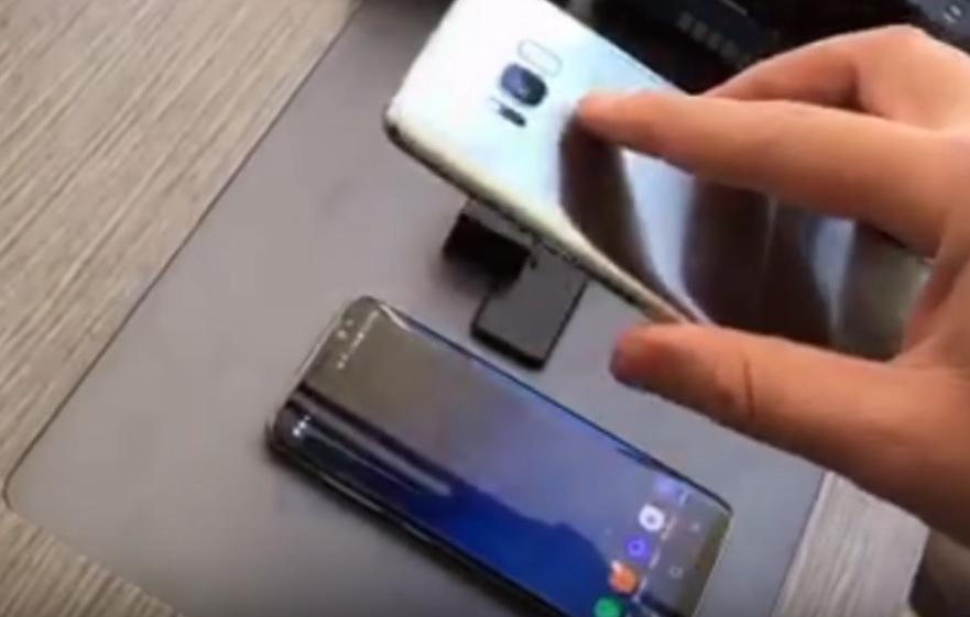 Det skal ikke mye til for å låse opp en S8 som har ansiktsgjenkjenning aktivert.