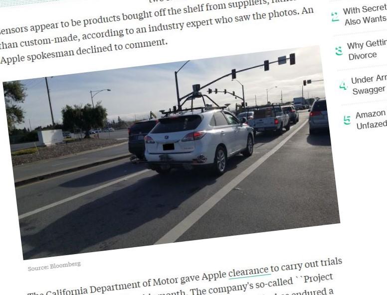 Apple har i gang med testingen av førerløs teknologi.
