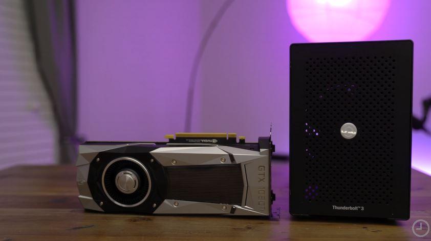 GTX 1080 Ti og grafikkabinettet Akitio Node.