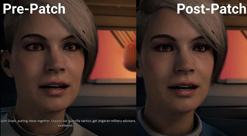 Spillerne ser nå mer naturlige ut.