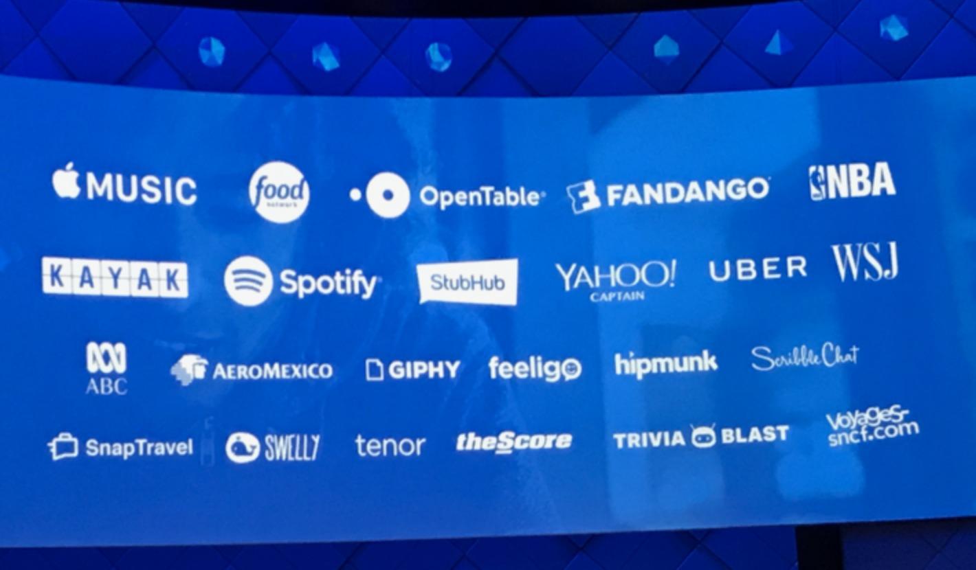 Fra Messenger-appen kan man reservere bord og bestille billetter, blant annet.