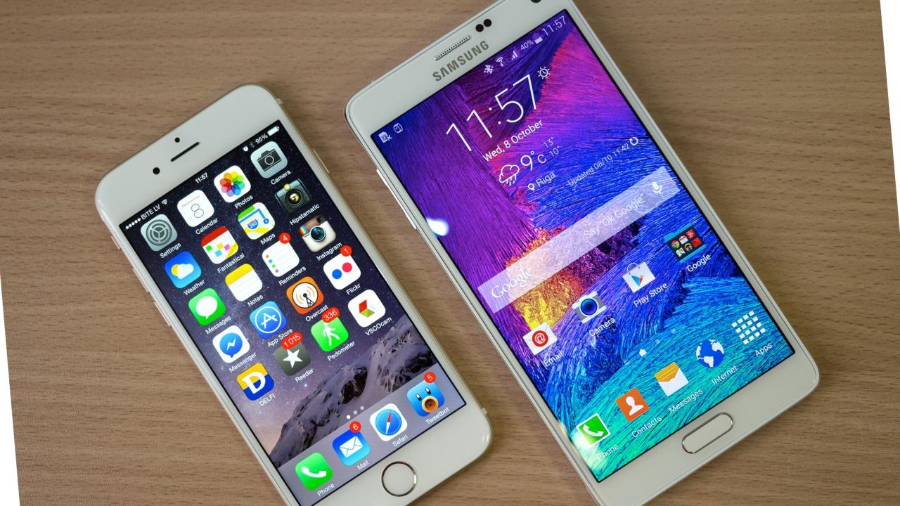 Gjennomsnittsprisen for en iPhone er mye høyere enn for en Samsung-telefon.