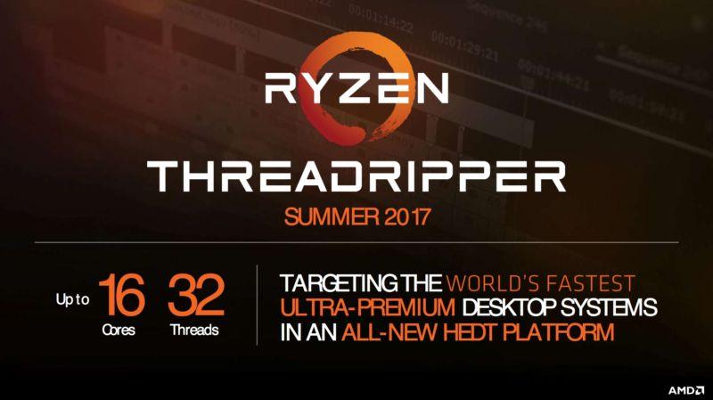 AMDs Threadripper vil få 16 kjerner med 32 tårder, men det er alt selskapet vil gå ut med.