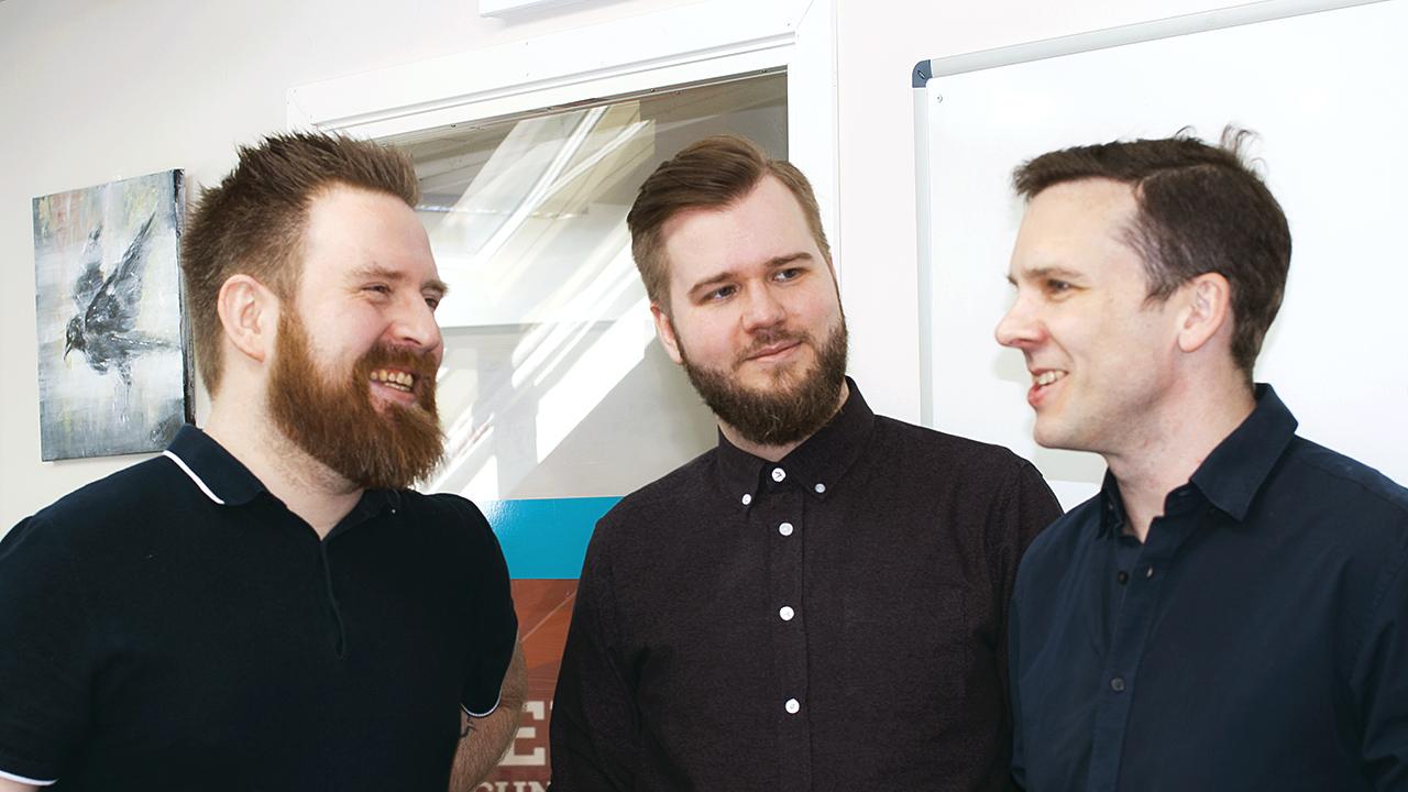 BreachVR - fra venstre: Marius Thorvaldsen, Sindre Grønvoll og Martin Sivertsen.