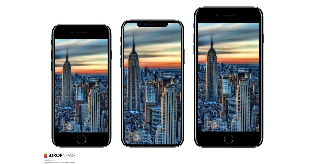 iDrop News-kildene hevder at iPhone 8 blir slik.