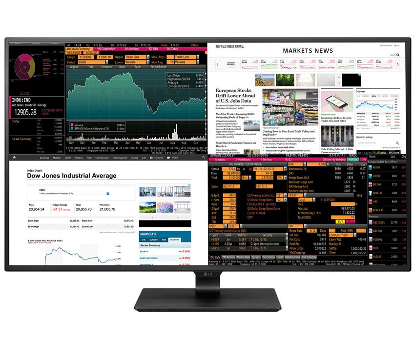 Lgs nye og svære skjerm kan brukes som fire separate 21,5-tommer skjermer.