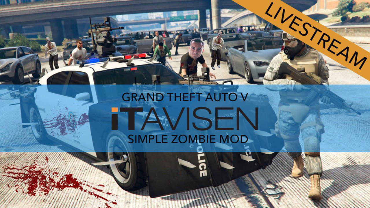 Zombie-modifikasjonen til GTA V kan jo ikke være annet en grismorsom. Følg med klokka 21.