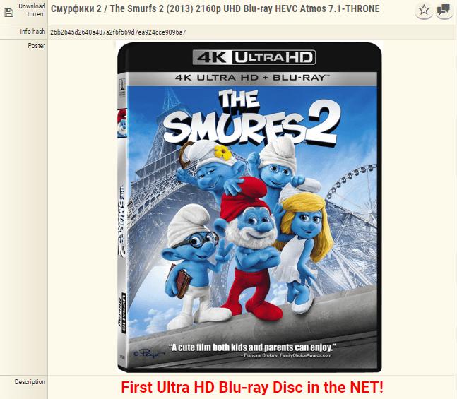 Det hevdes at dette er den første 4K Blu-ray-kopien som er piratkopiert.