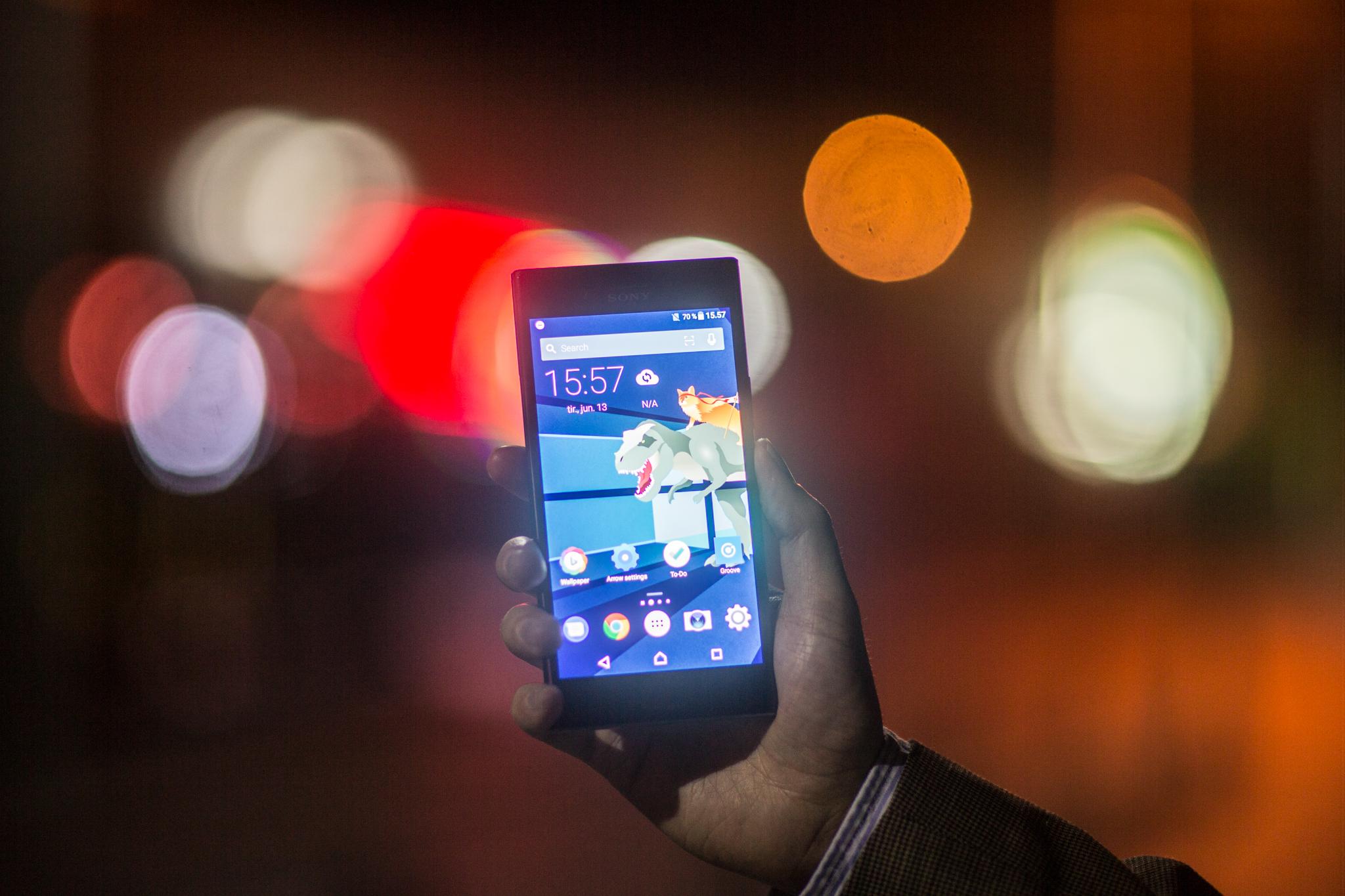 Xperia XZ Premium har en av de aller beste mobilskjermene på markedet.