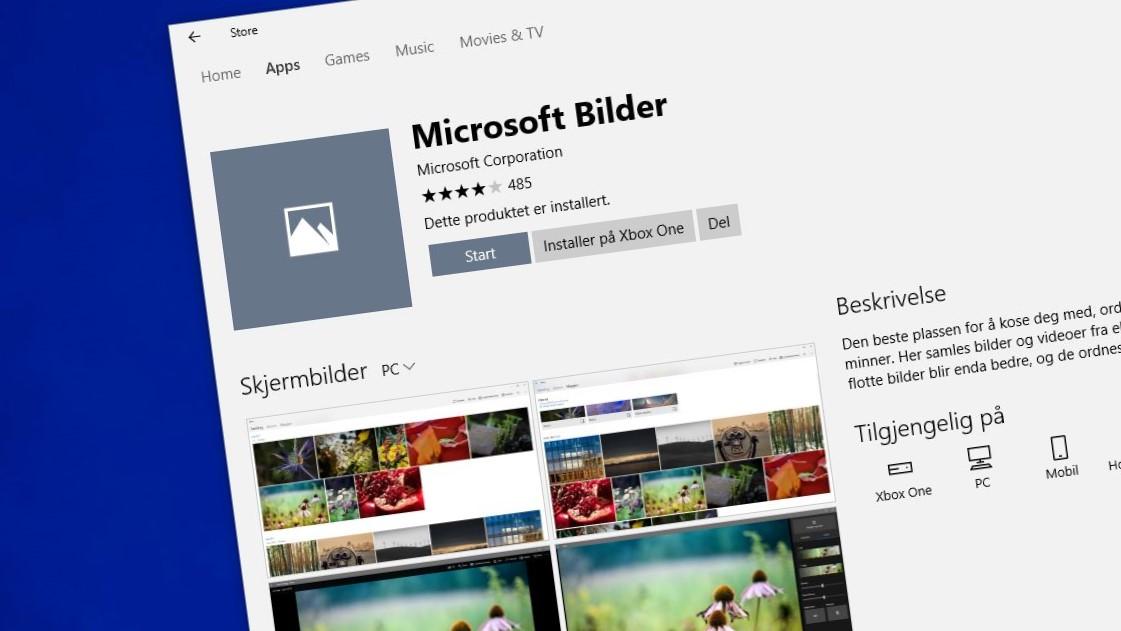 Windows 10-appen Bilder blir smartere.