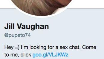 Dette er et eksempel på en falsk Twitter-konto.