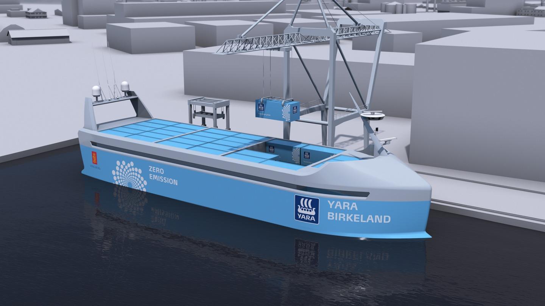 Yara- og Kongsberg Gruppen-skipet omtales som Havets Tesla.