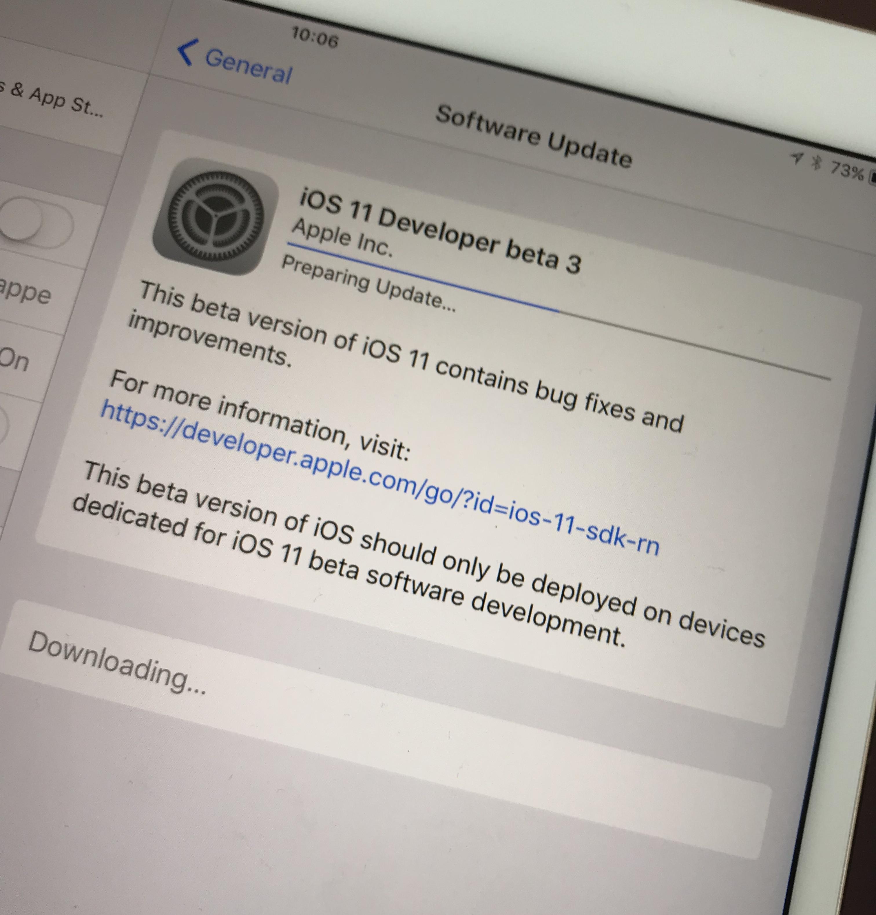 Utviklere har nå tilgang til beta 3. Alle andre kan teste den nyeste testversjonen om noen dager.