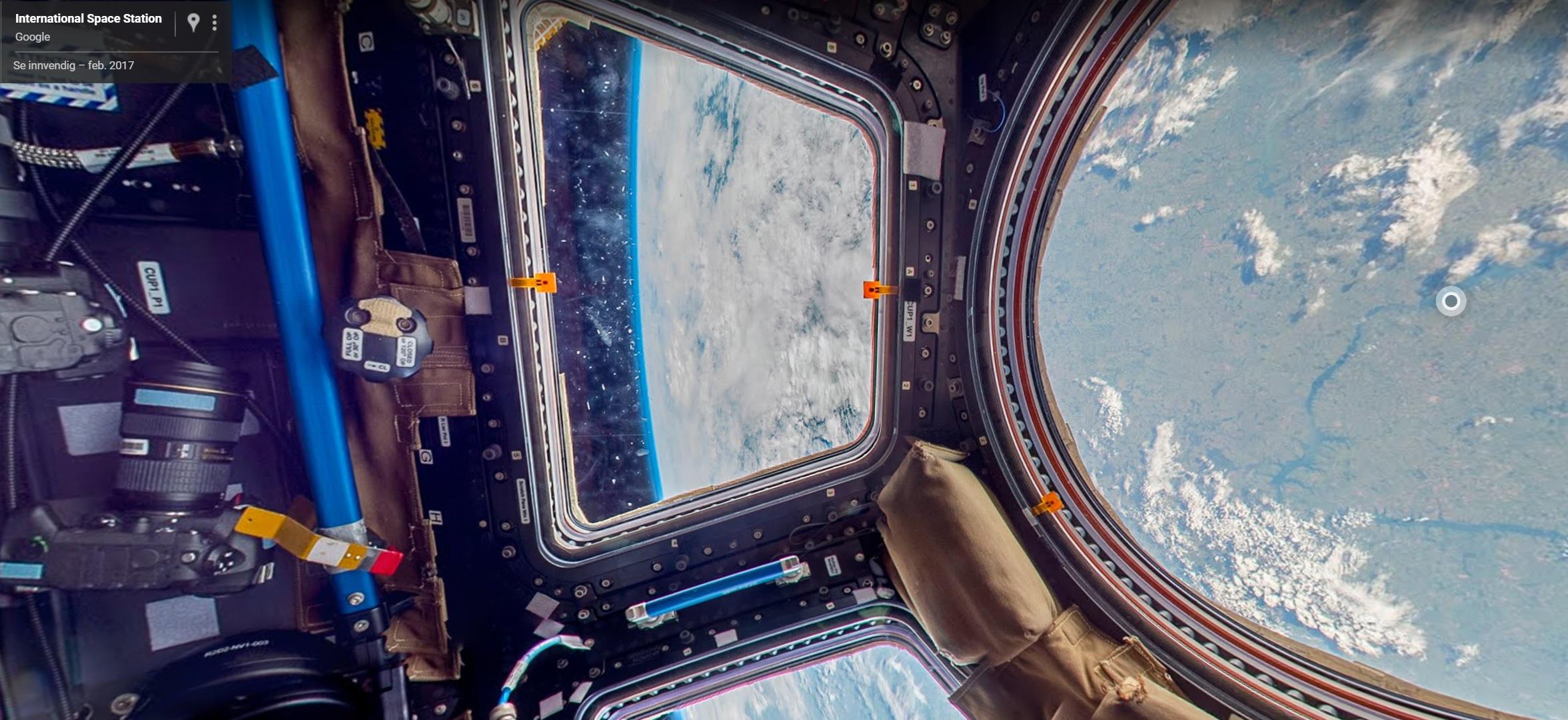 Bli med opp til den internasjonale romstasjonen med Google Street View.