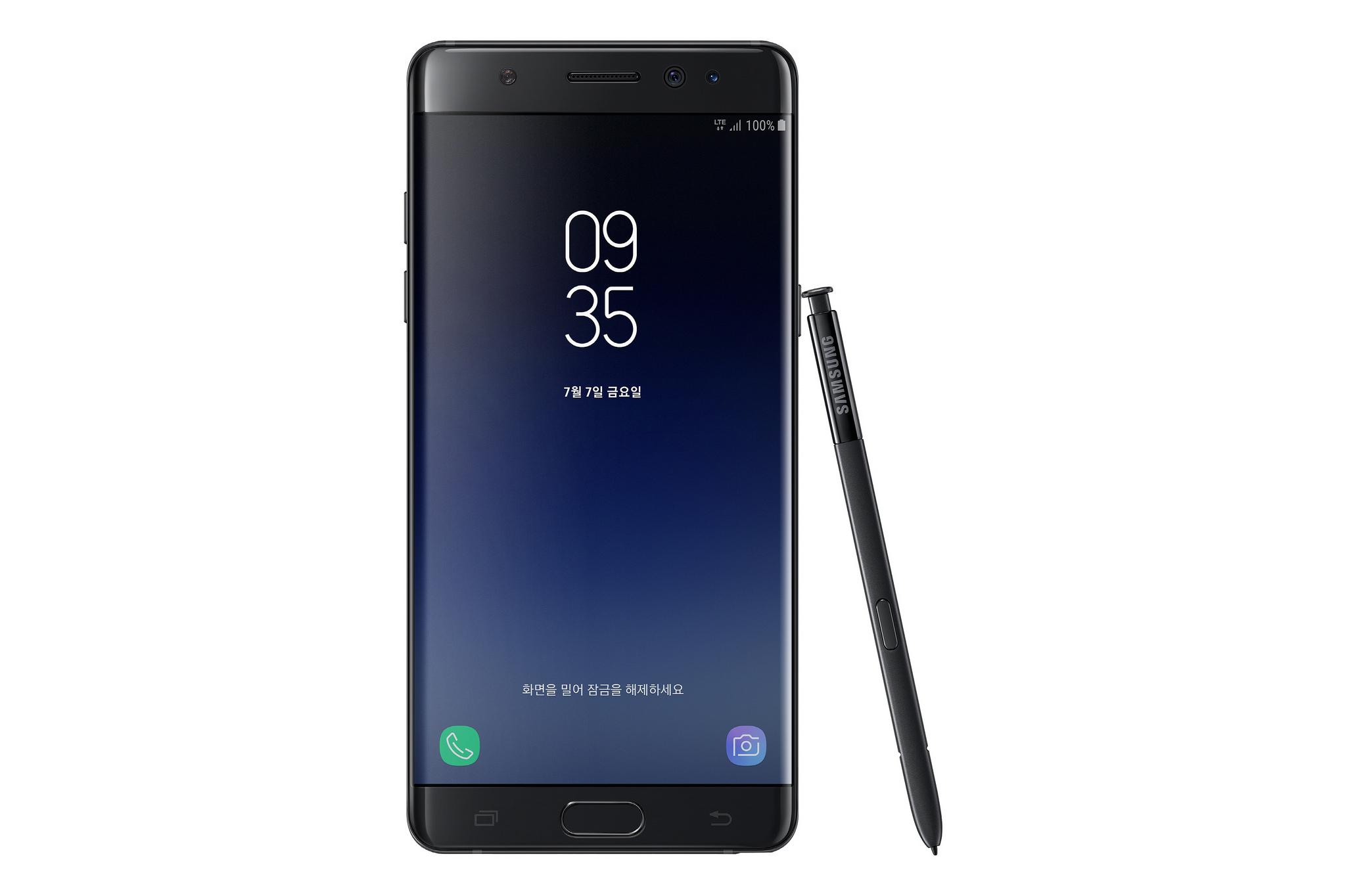 Galaxy Note Fan Edition er resirkulerte Note 7-mobiler med mindre og bedre testet batteri.