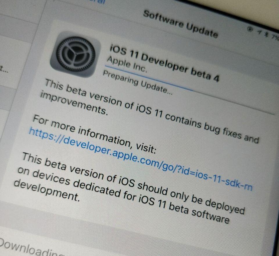 Beta 4 er lansert. Last ned om du er utvikler.